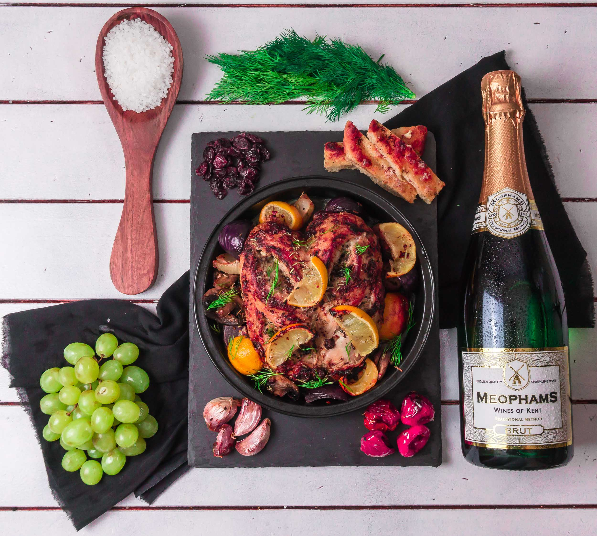 Meophams-Brut-English-Sparkling-Wine-Roast-Chicken-1
