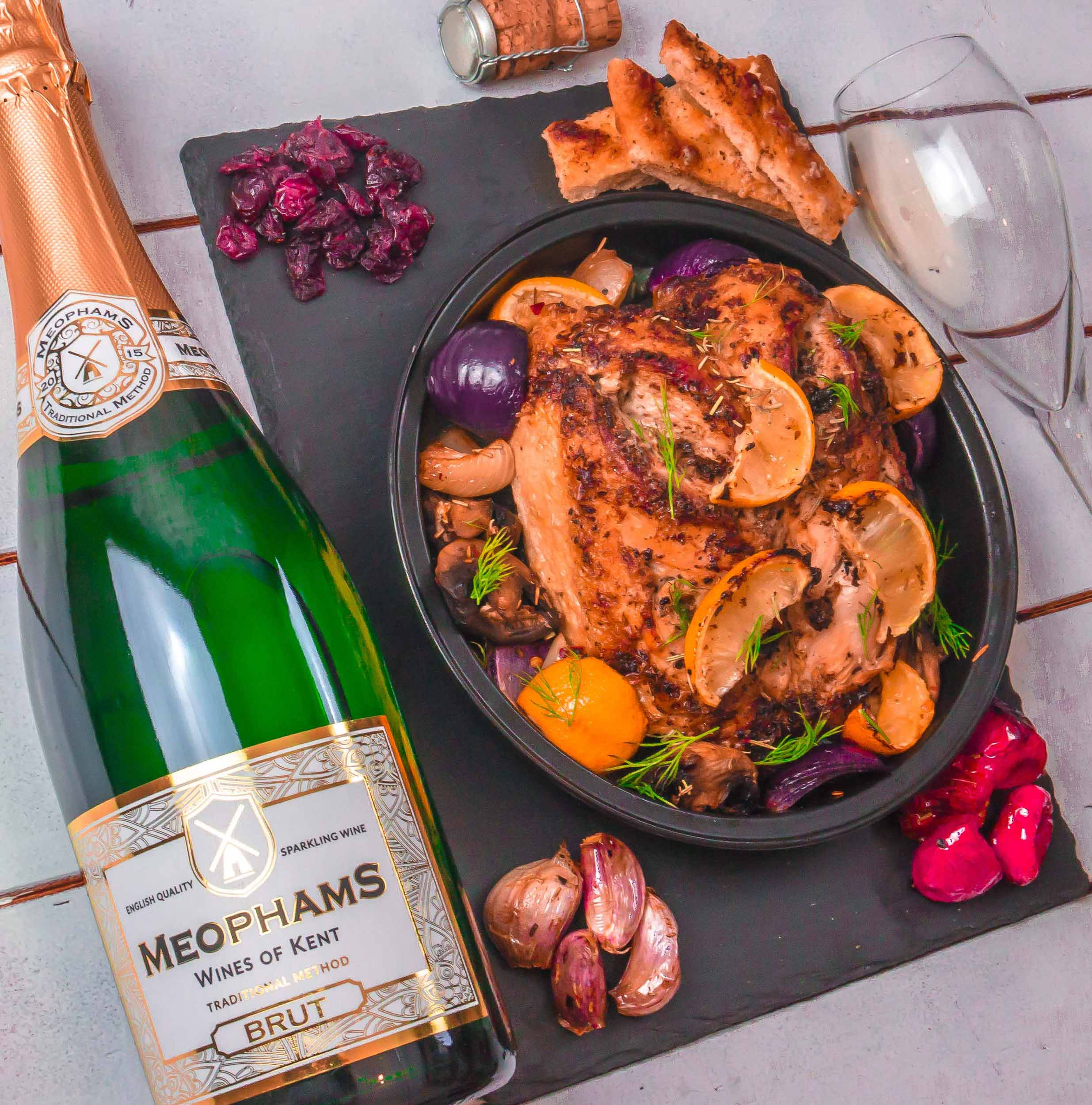 Meophams-Brut-English-Sparkling-Wine-Roast-Chicken-3