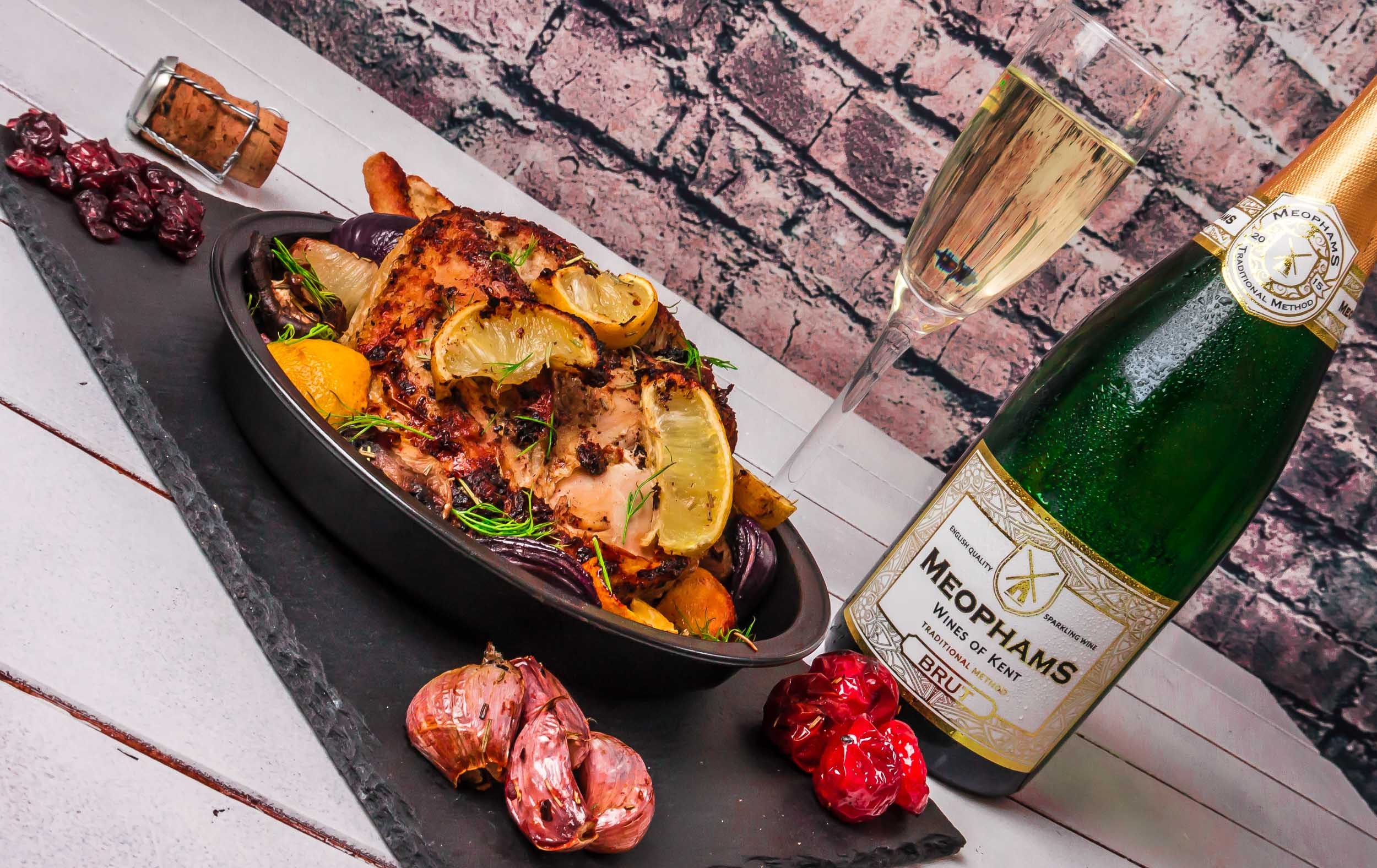 Meophams-Brut-English-Sparkling-Wine-Roast-Chicken-4