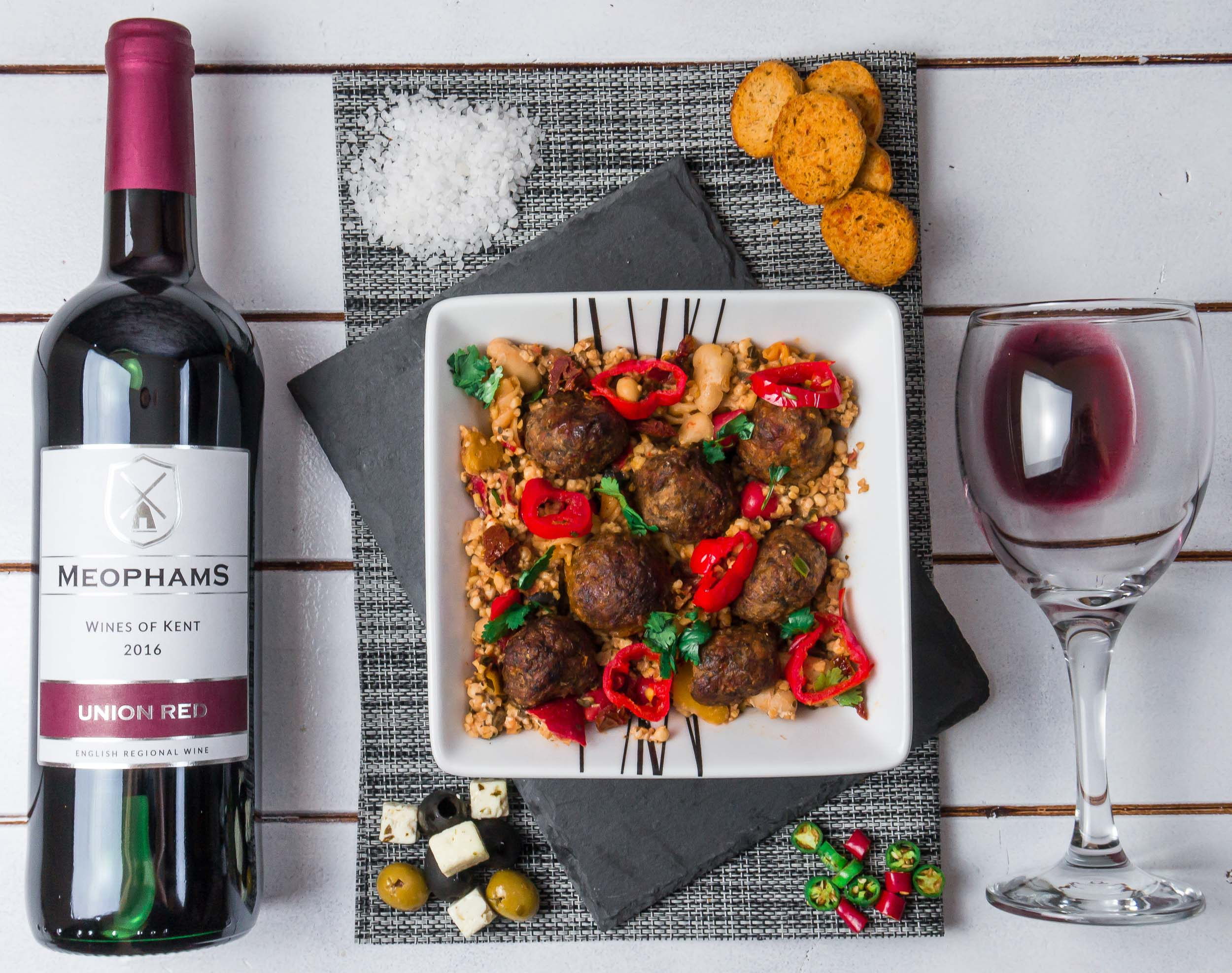 Meophams-Union-Red-Kent-English-Wine-Lamb-Meatballs